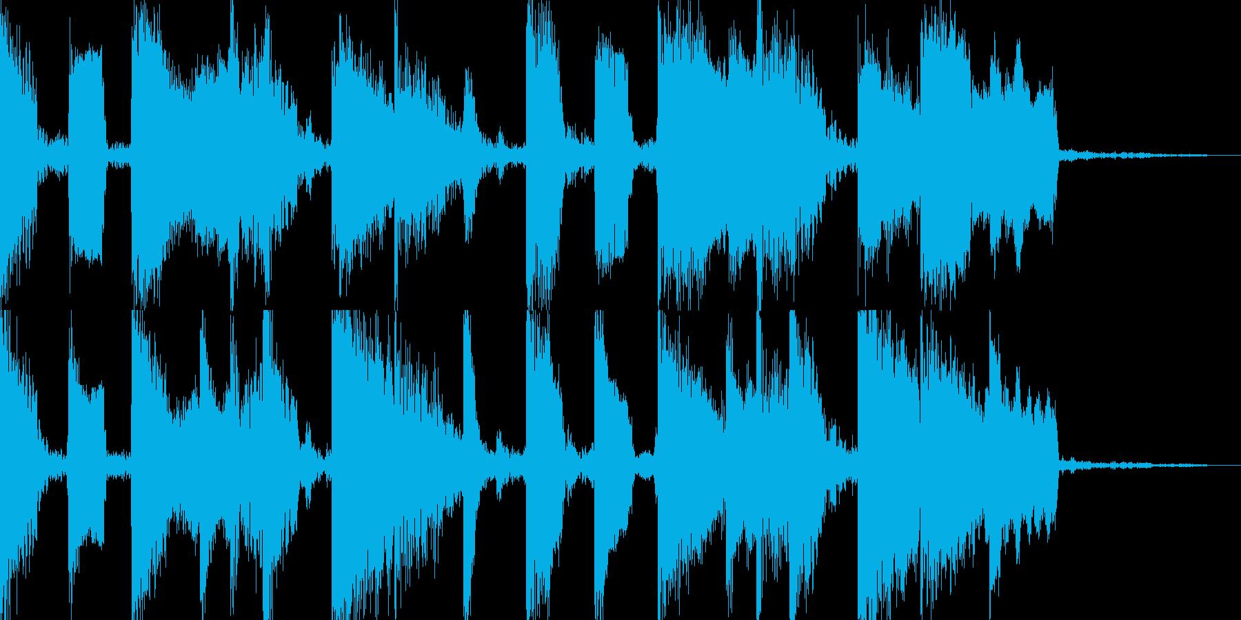 コミカルな5秒ピコピコフレーズ。の再生済みの波形