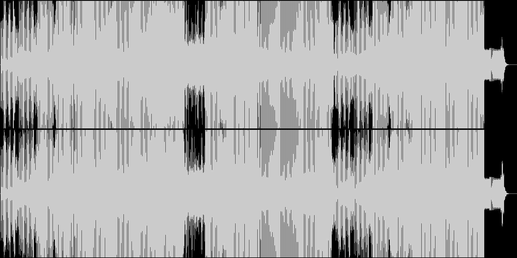 シンセが楽しい面白ダンスチューンEDMの未再生の波形