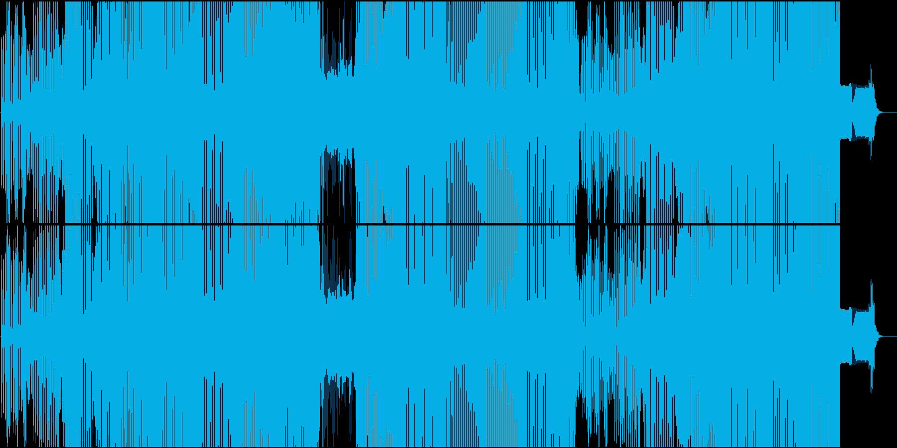 シンセが楽しい面白ダンスチューンEDMの再生済みの波形