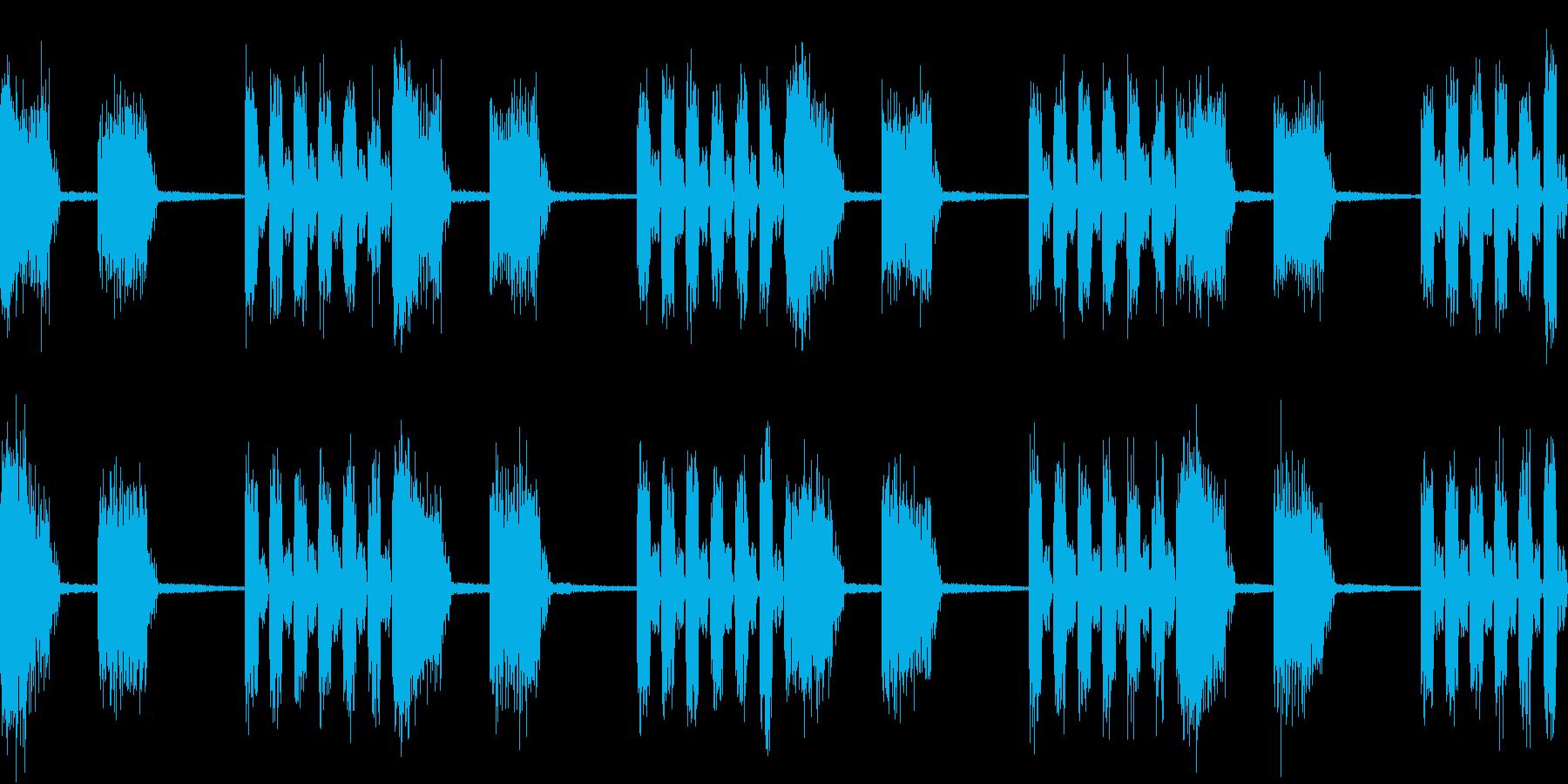 SFX デジタルボイスの不気味なループ+の再生済みの波形