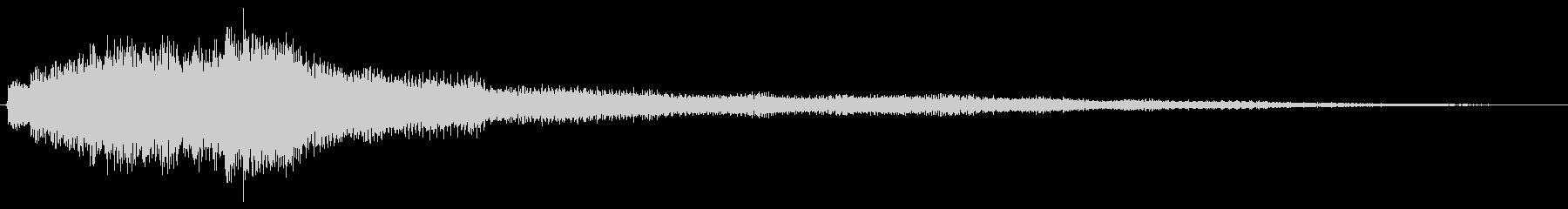 透明感のあるピアノで上昇系サウンドロゴの未再生の波形