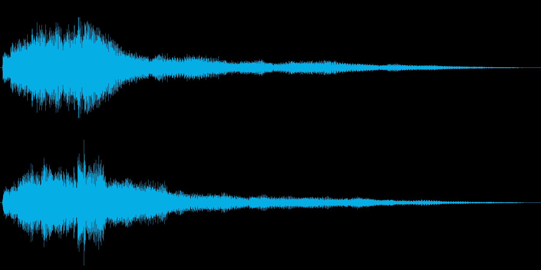 透明感のあるピアノで上昇系サウンドロゴの再生済みの波形