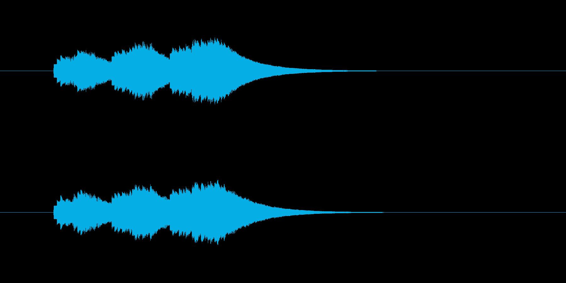 ファミコン音の再生済みの波形