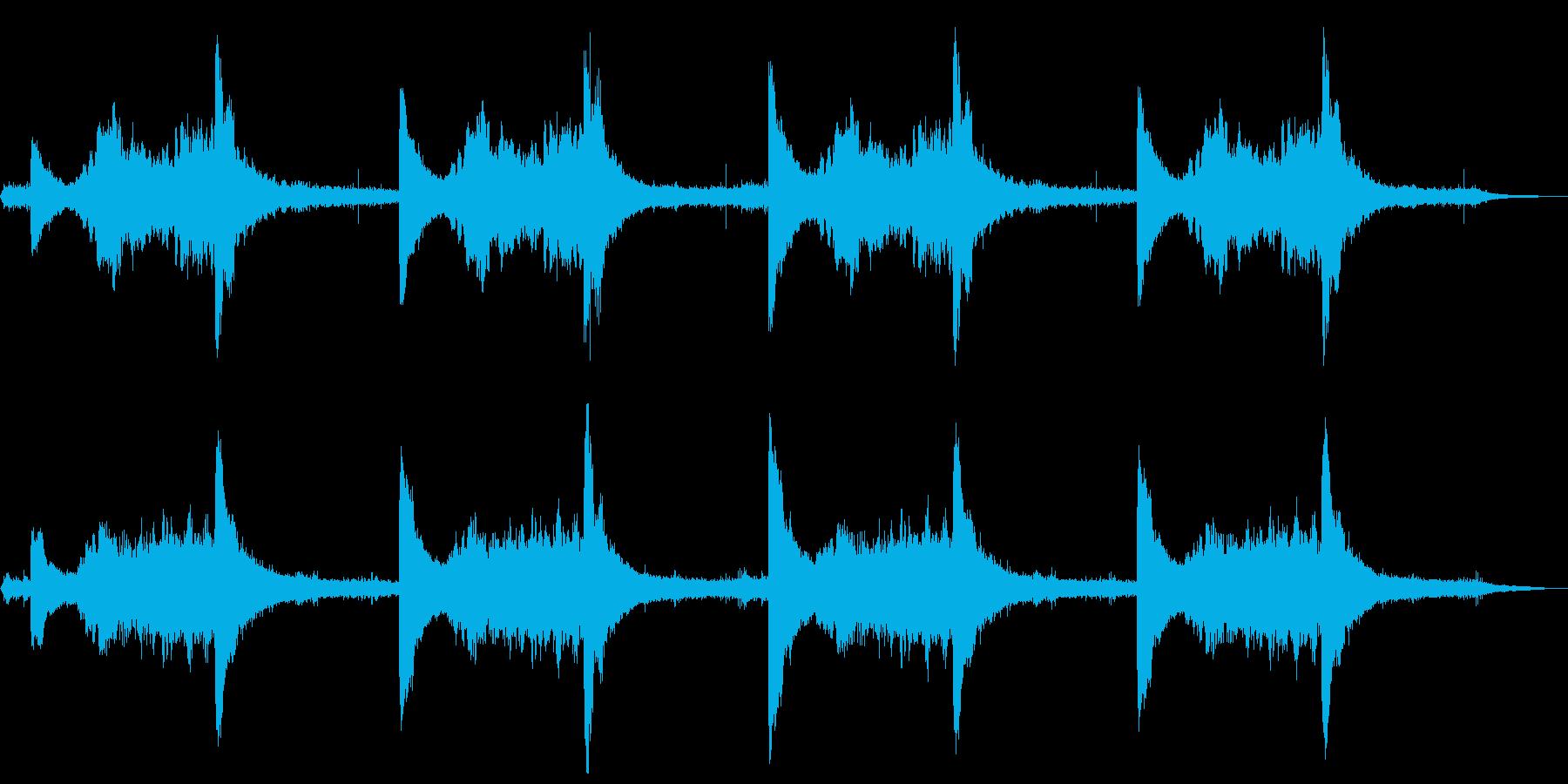 ささやき声が不気味なホラーの再生済みの波形