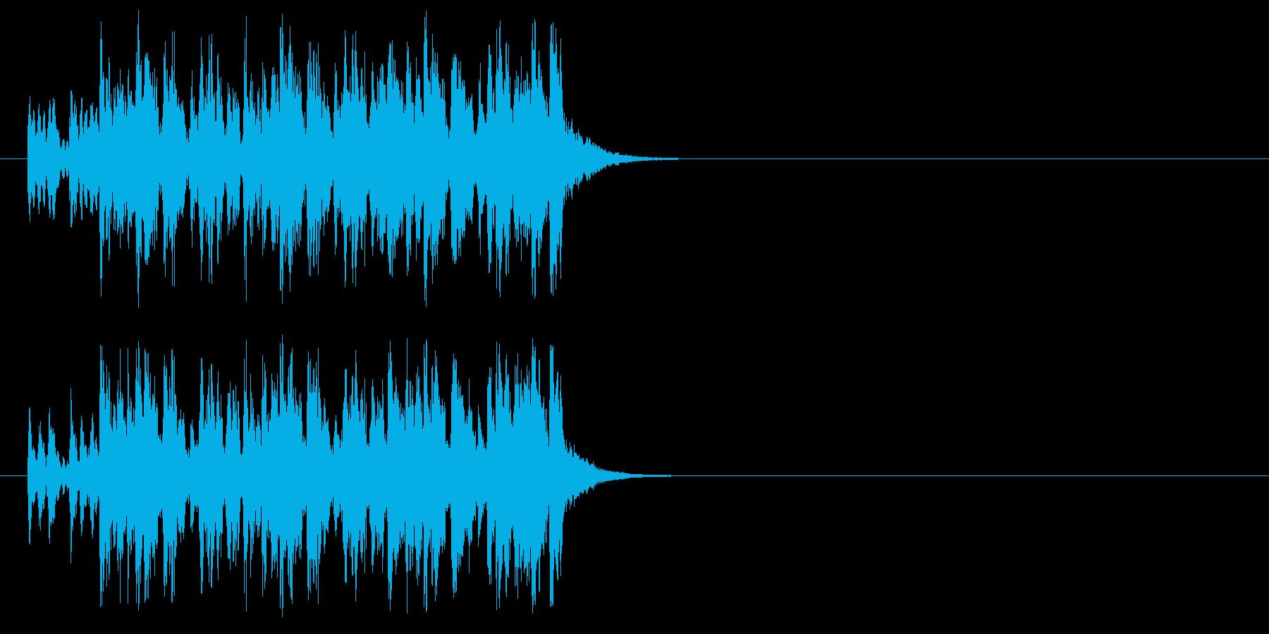 サンバの要素を取り入れたラテン系ジングルの再生済みの波形