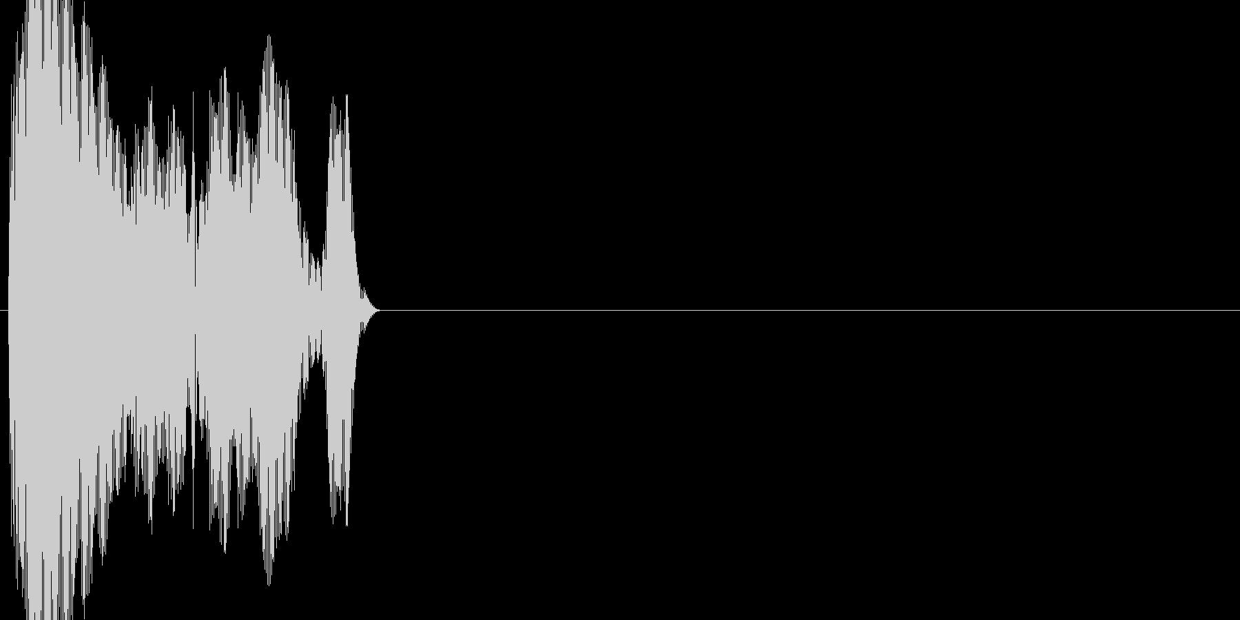 ボタン・カーソル・操作音 「キッ」の未再生の波形
