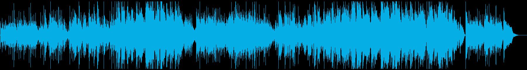 ほのぼの心温まるアコースティックな歌声の再生済みの波形
