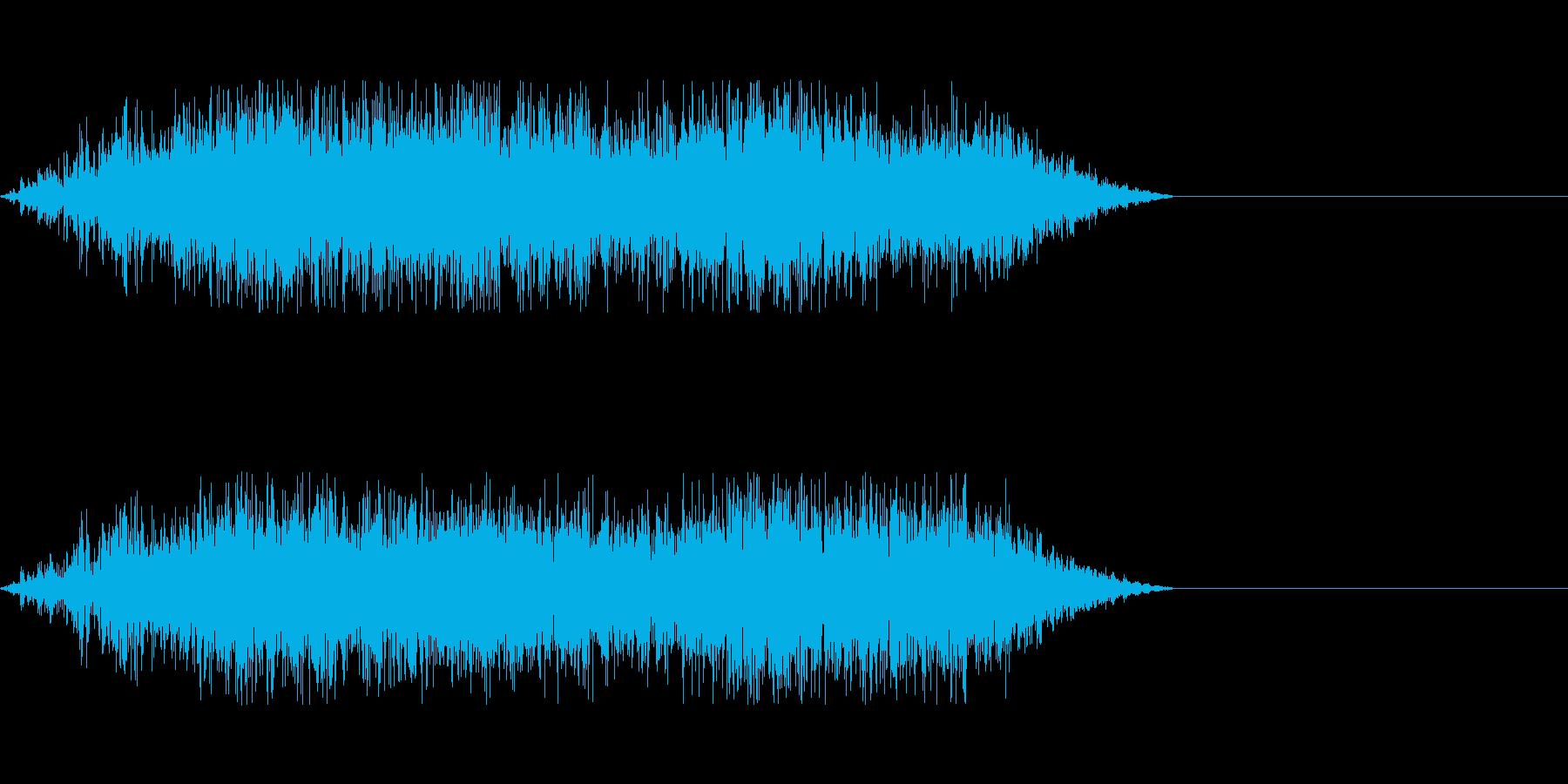 モンスターの呪文攻撃時の発声などにの再生済みの波形