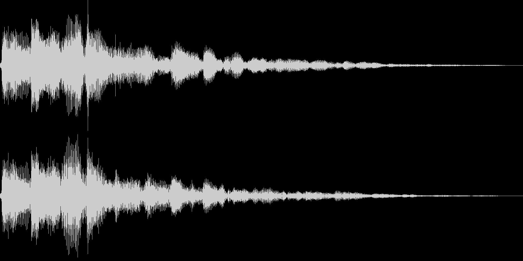 ピローン(決定、アイテム、ボタン押す)の未再生の波形
