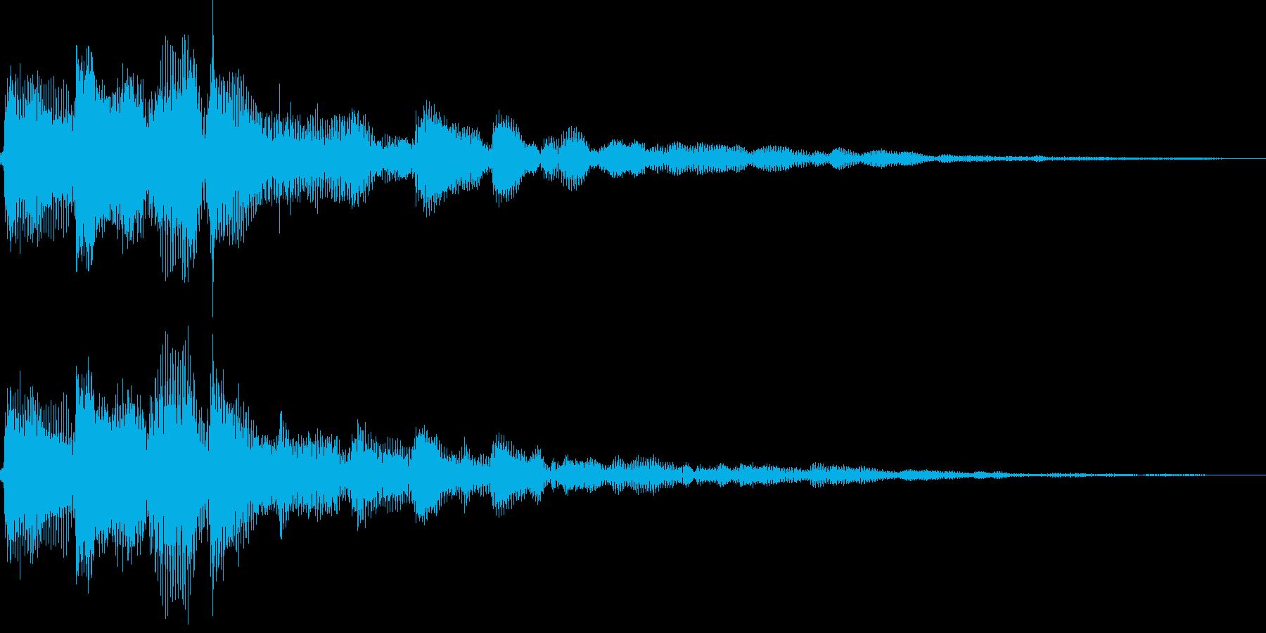 ピローン(決定、アイテム、ボタン押す)の再生済みの波形