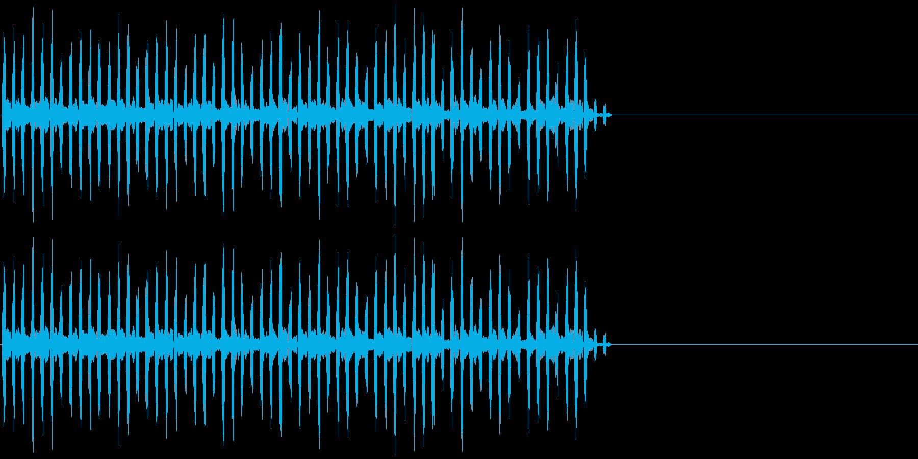 ピコピコ レトロな機械音 PC風の再生済みの波形