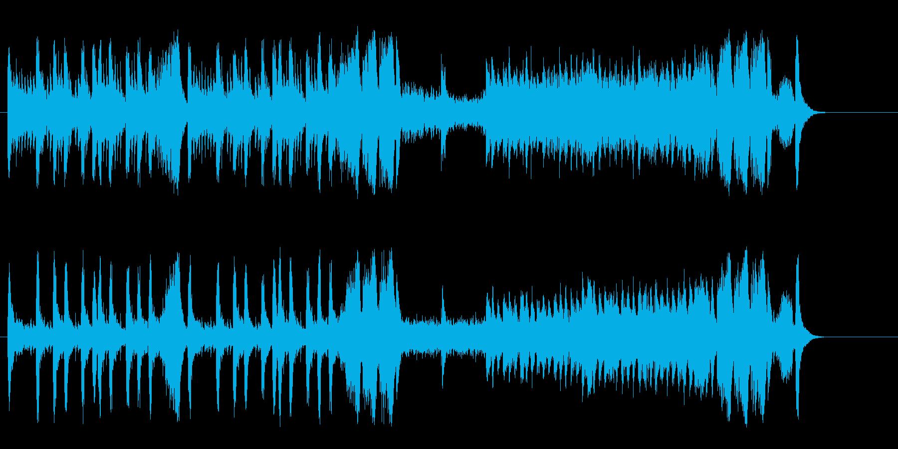 アメリカ映画音楽風オーケストラ楽曲の再生済みの波形