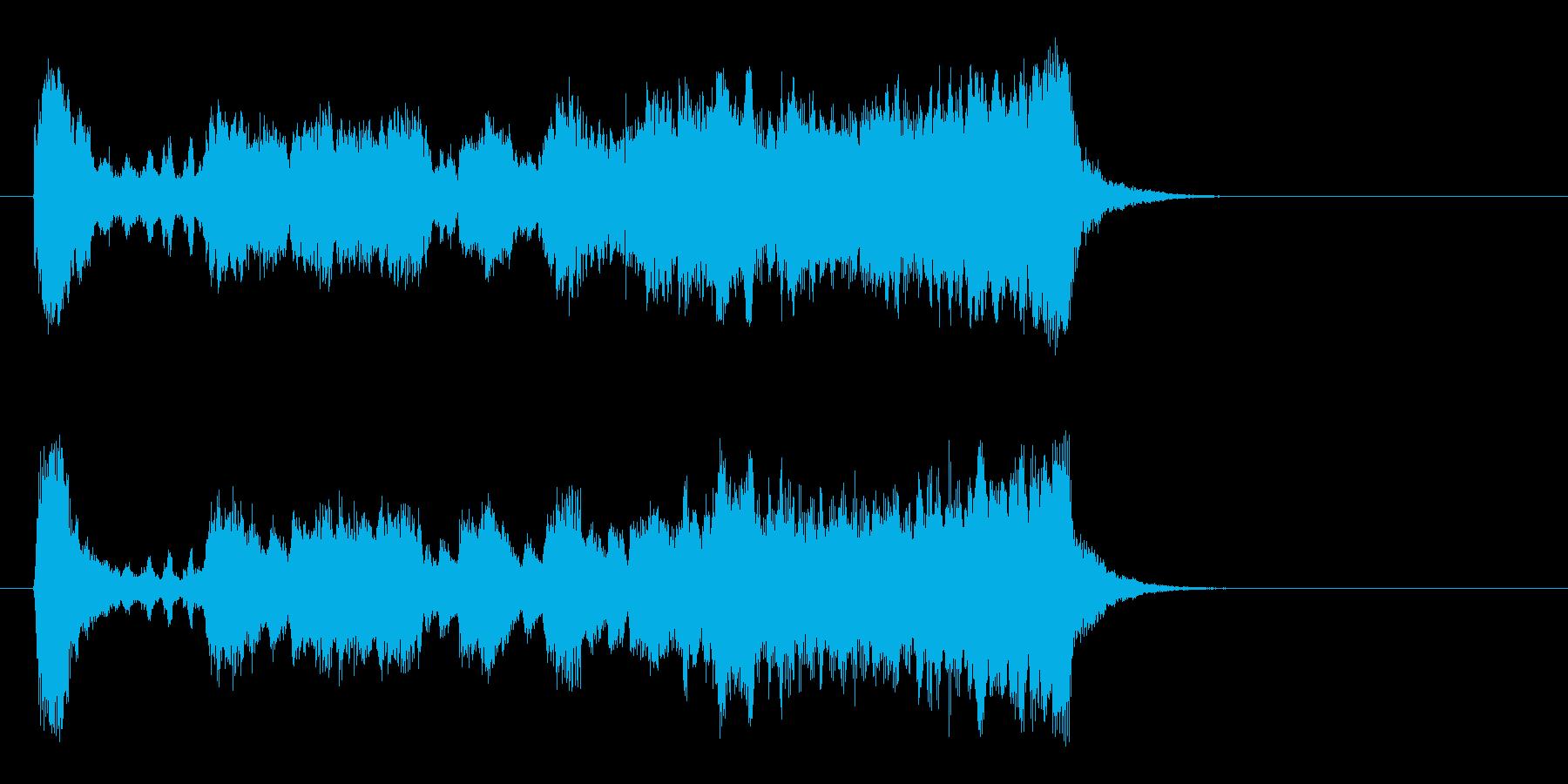 気品高いオーケストラ楽曲(イントロ)の再生済みの波形