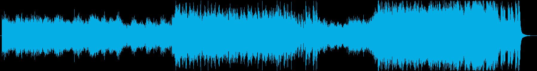 躍動感あるれるハリウッド系BGMの再生済みの波形