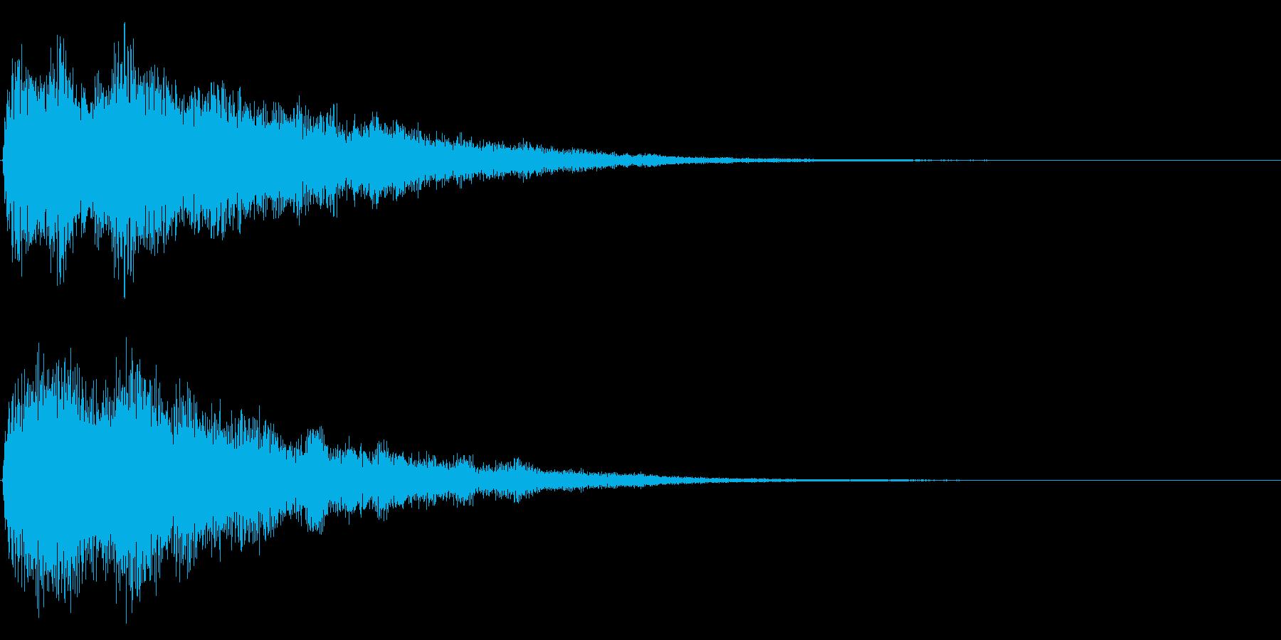 ゲームスタート、決定、ボタン音-001の再生済みの波形