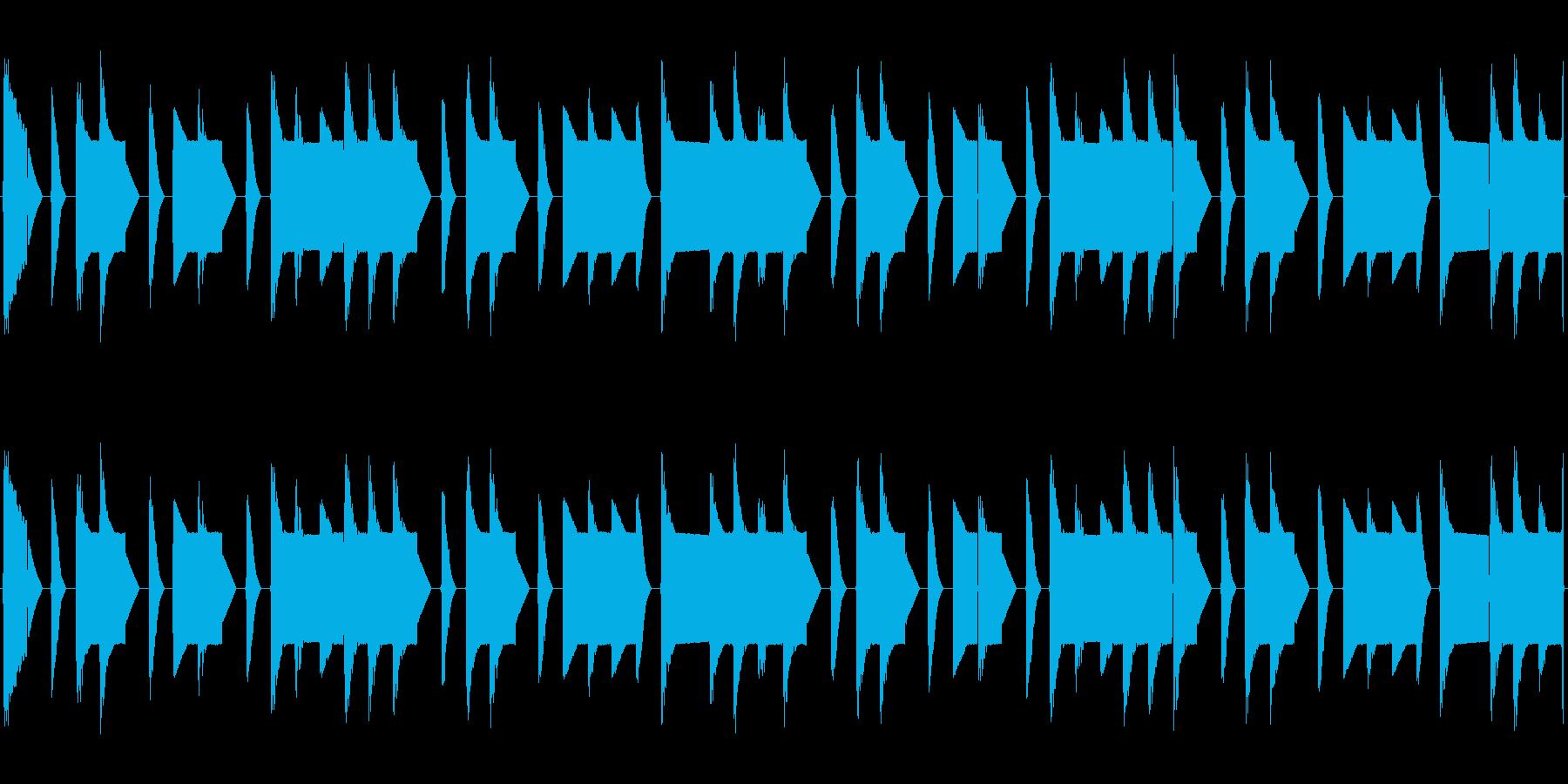 チップチューンの短いループ1の再生済みの波形