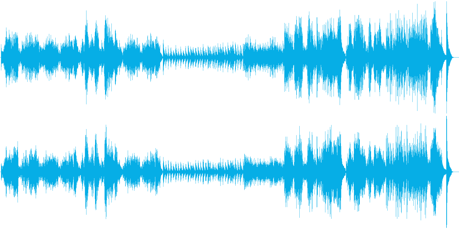 ショパンのノクターンのようなオリジナル曲の再生済みの波形
