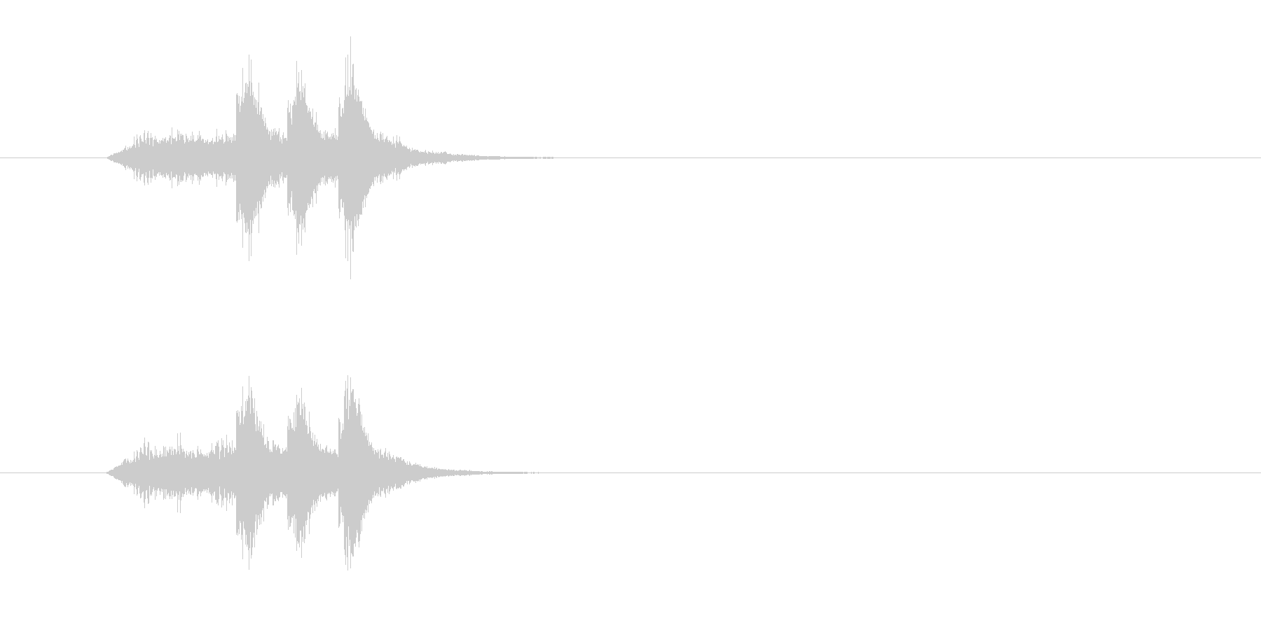 ジングル(サウンド・ロゴ風)の未再生の波形