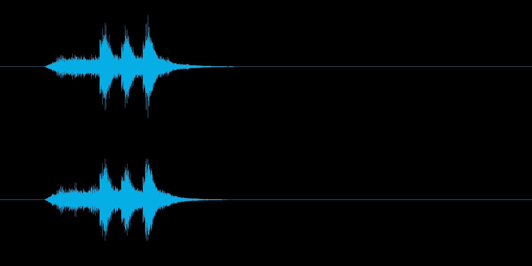 ジングル(サウンド・ロゴ風)の再生済みの波形