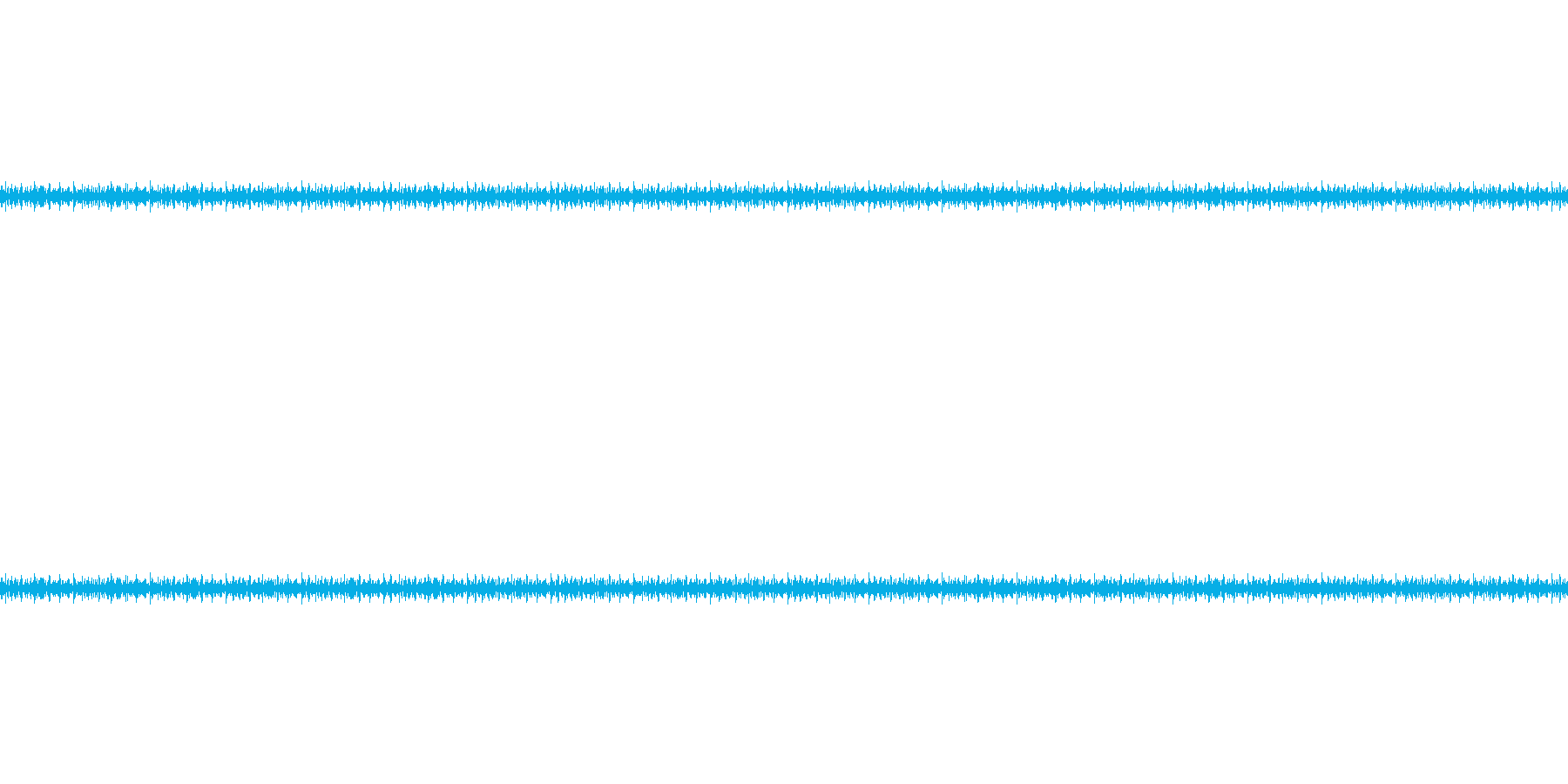 フライを揚げる音の再生済みの波形