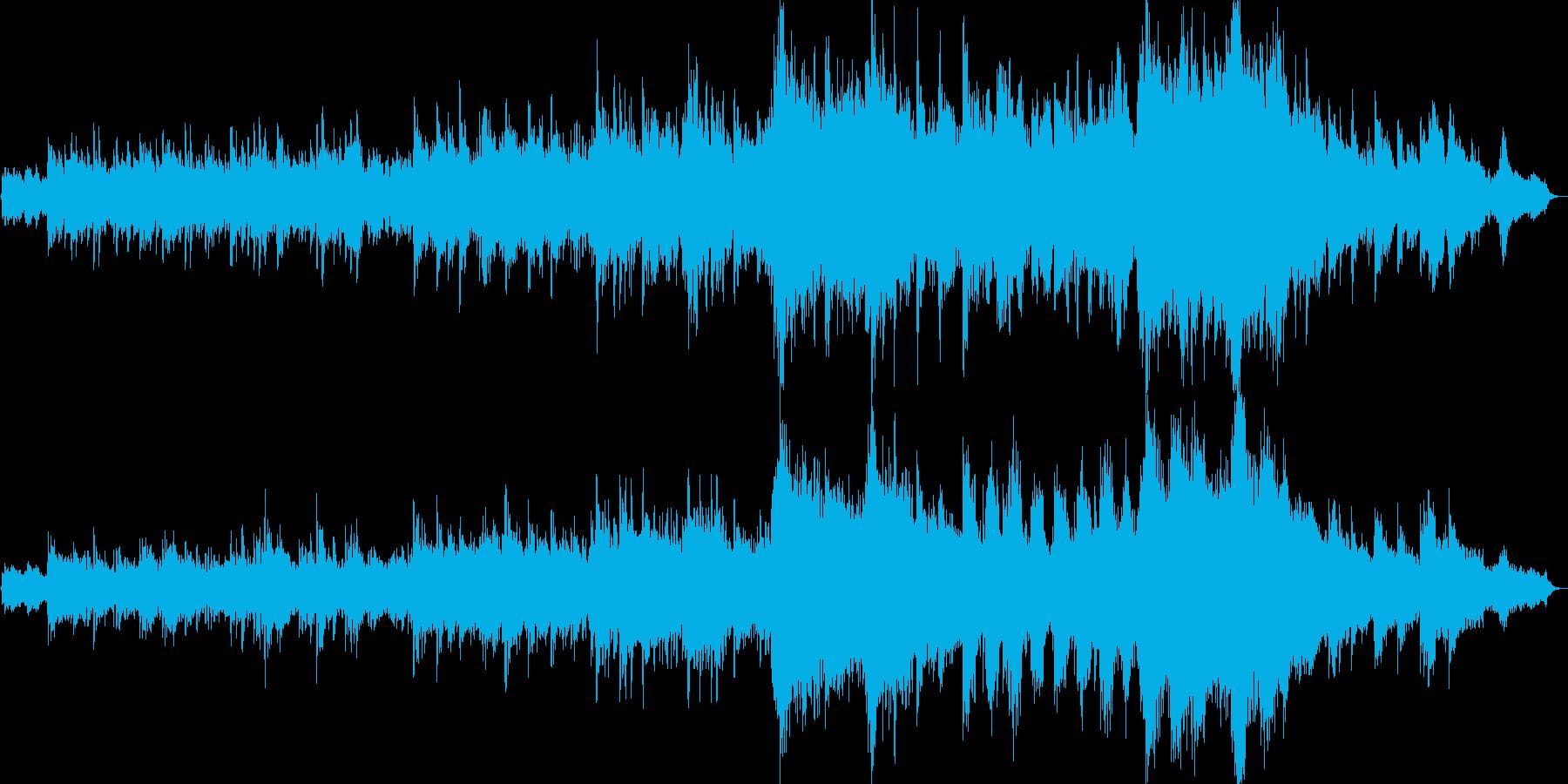 ゆったりとしたリズムで覆われたアンビエ…の再生済みの波形