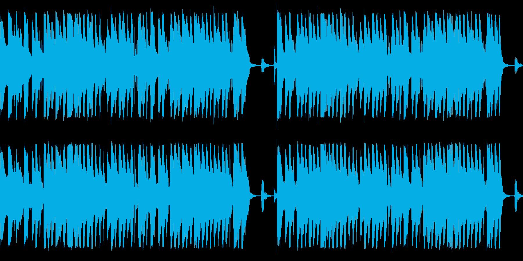 呑気なラテンリズム風のループ素材の再生済みの波形