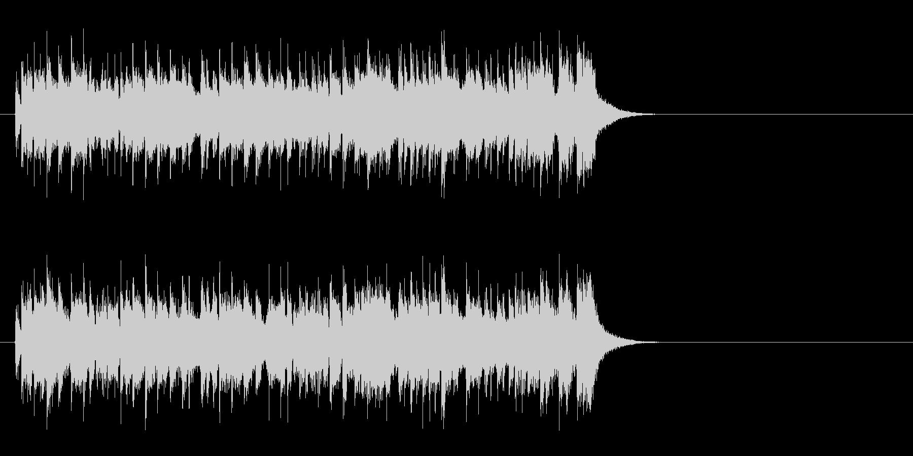迷いもふっ切れる タイトなポップスの未再生の波形
