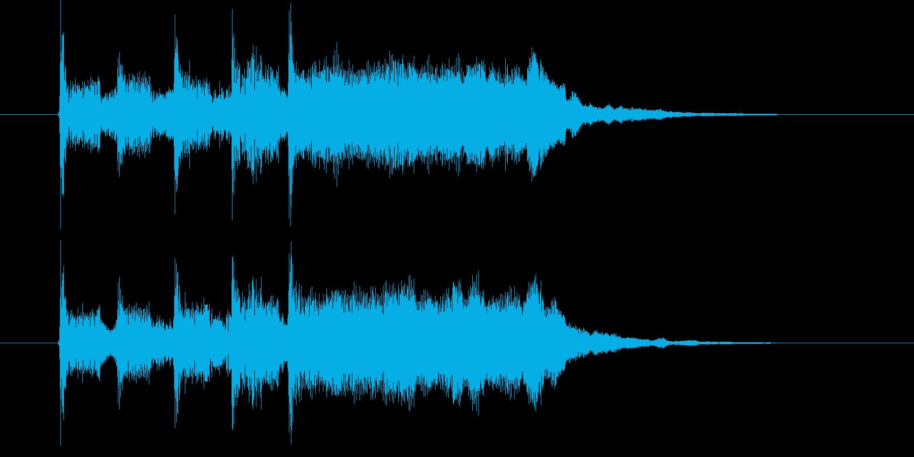 緩やかで軽快なポップジングルの再生済みの波形