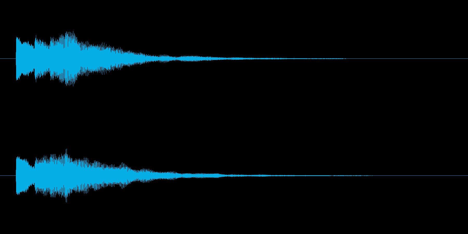 【チャイム 注意03-down2】の再生済みの波形
