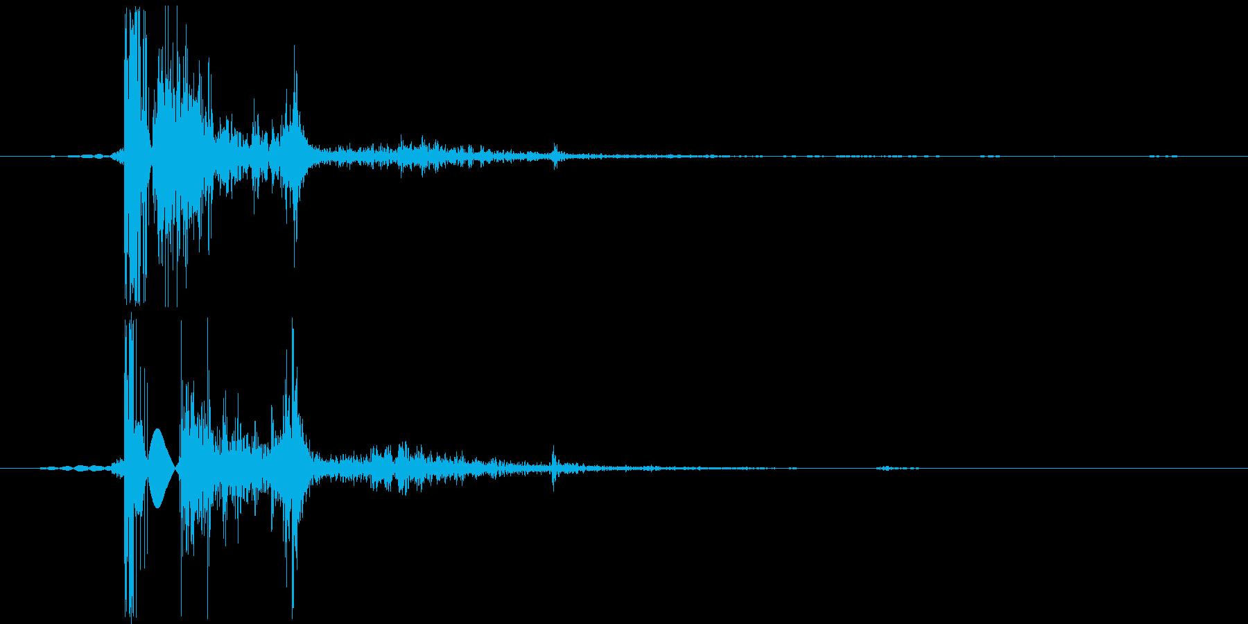 【銃声/AK/リアル/バスッ】の再生済みの波形