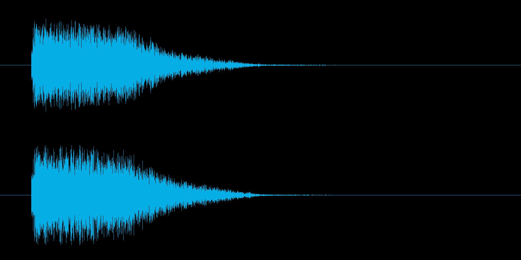 SF攻撃の再生済みの波形