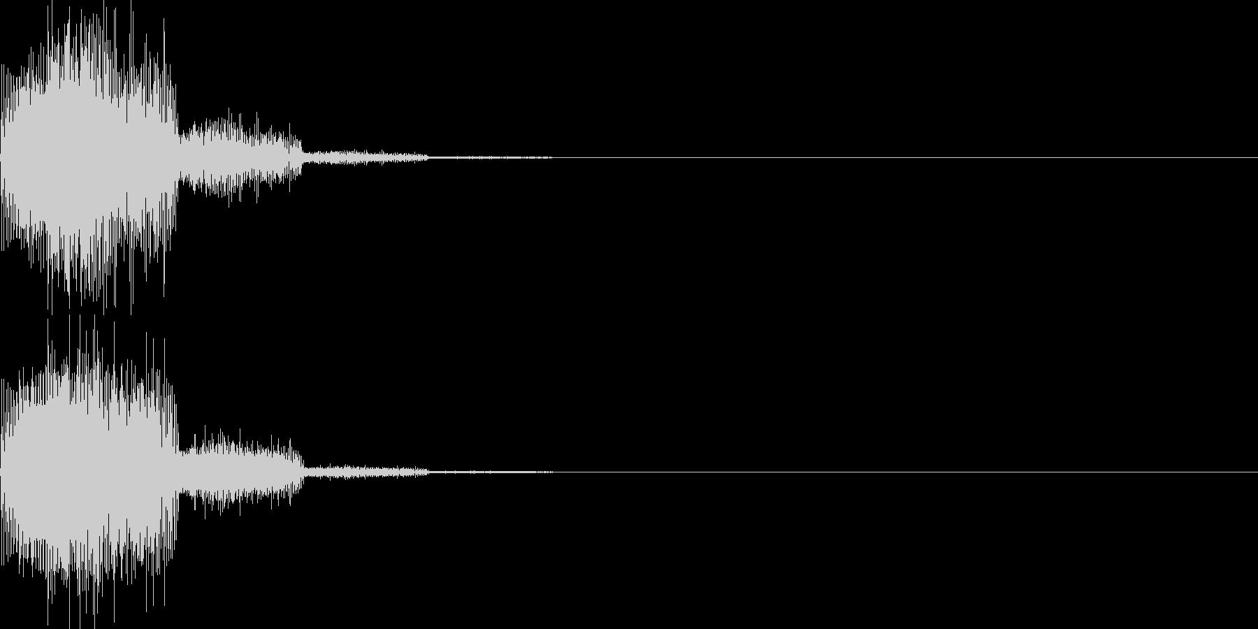 キャンセル音10(シンセ系Q)の未再生の波形