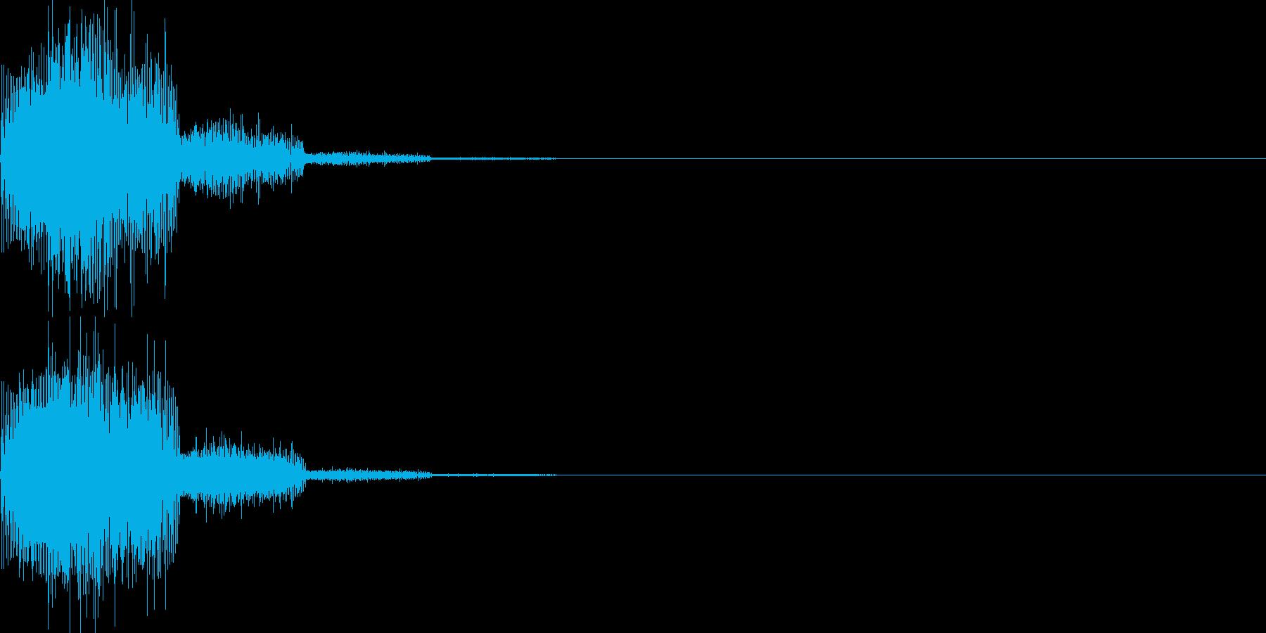キャンセル音10(シンセ系Q)の再生済みの波形