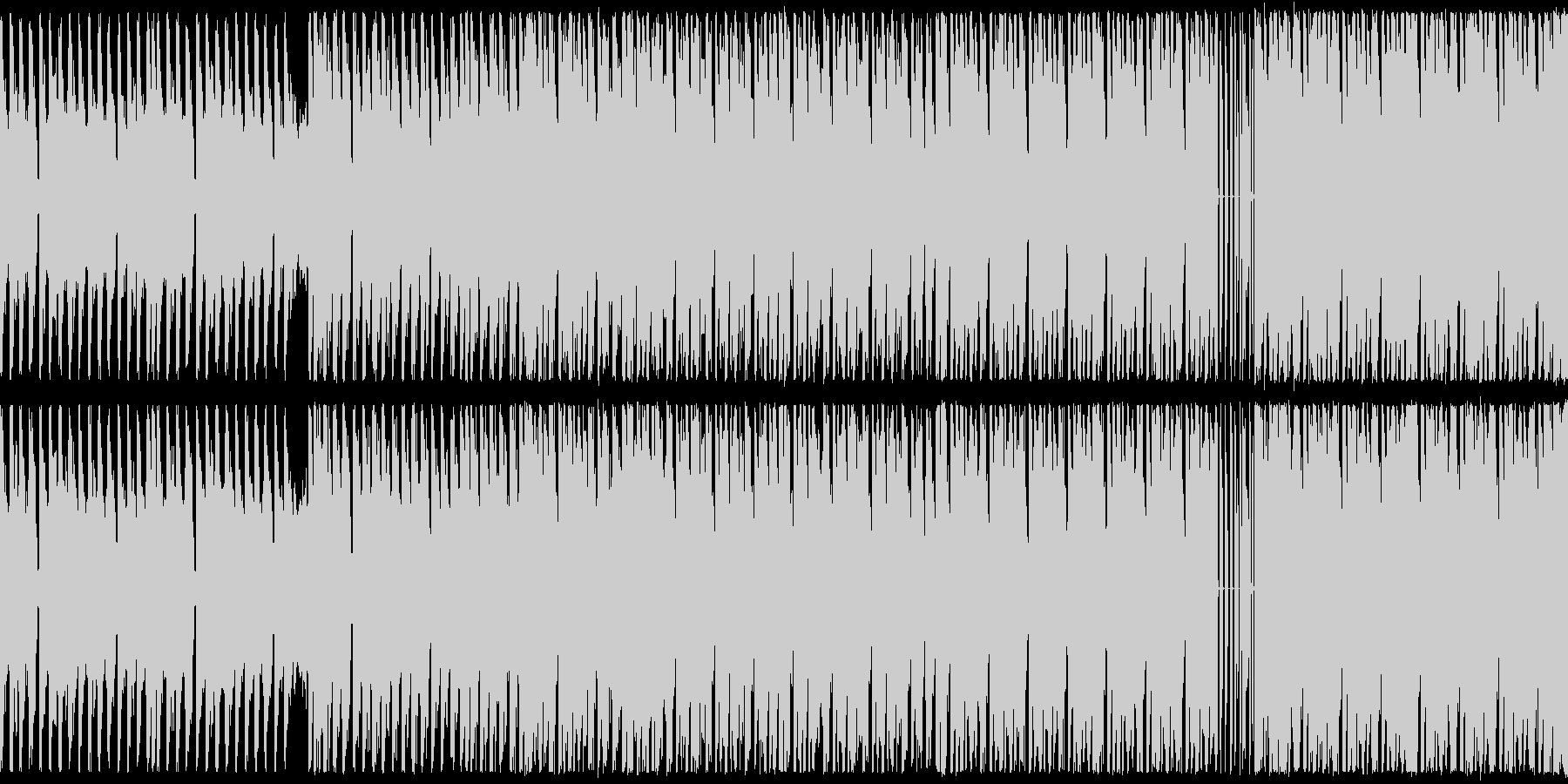 ループ,幻想的なテクノBGMの未再生の波形