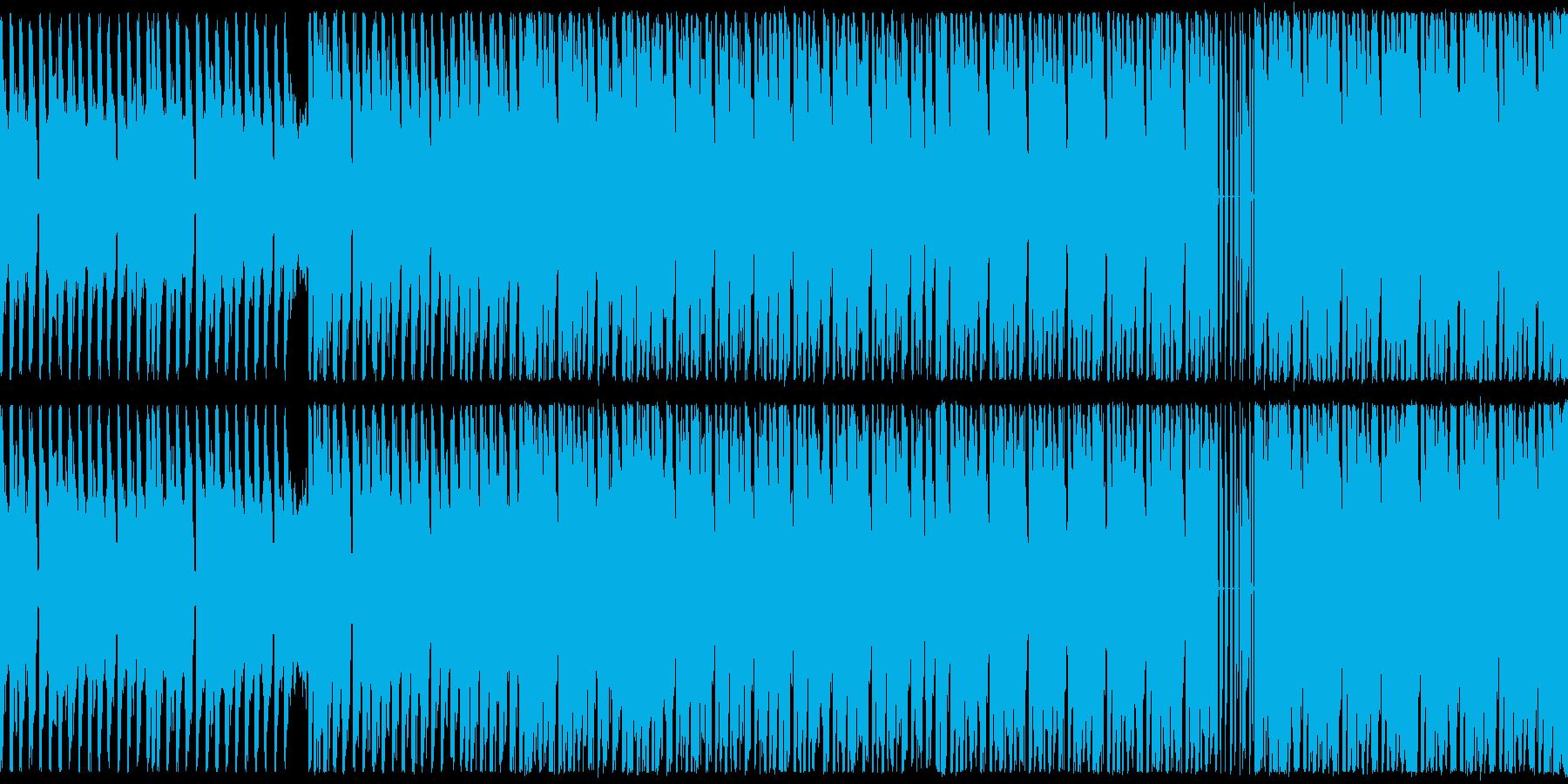 ループ,幻想的なテクノBGMの再生済みの波形