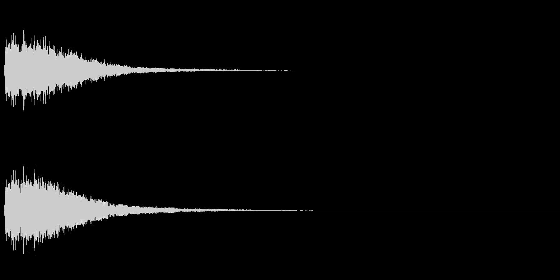 ピンポン 正解(効果音)の未再生の波形