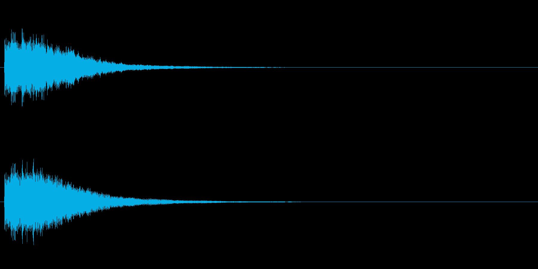 ピンポン 正解(効果音)の再生済みの波形