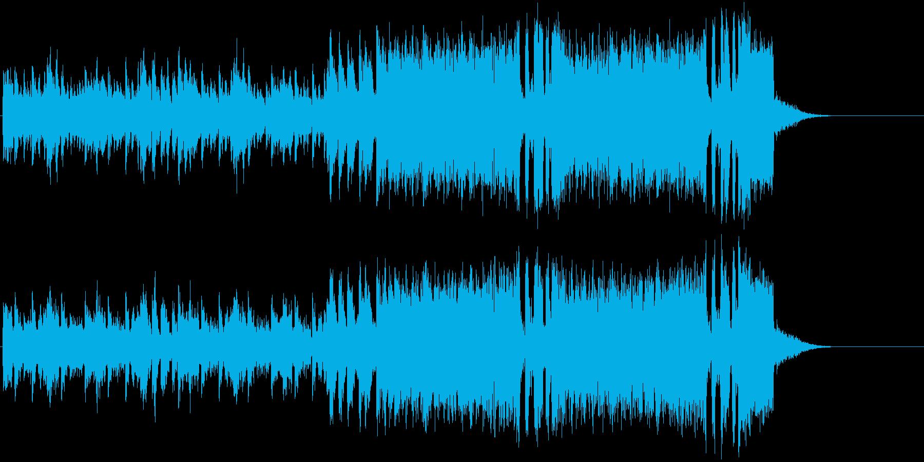 イントロ ジングル テクノ ラジオ用の再生済みの波形