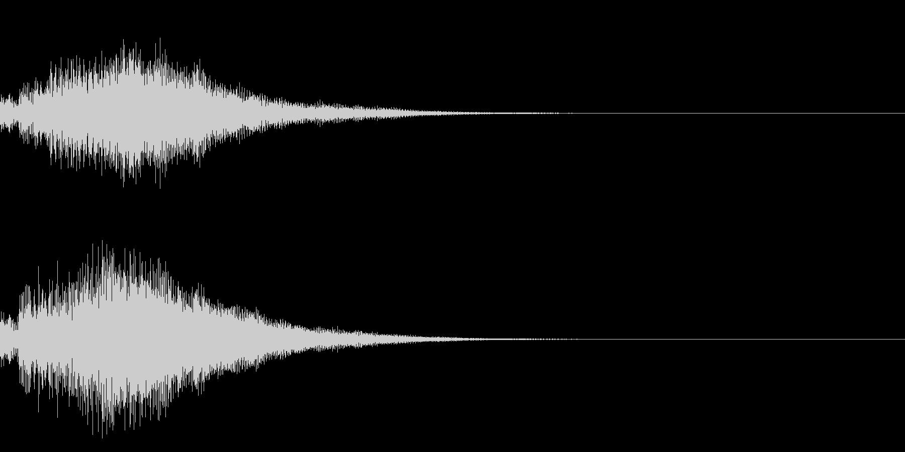 シンプルな決定音 ボタン音 正解音 18の未再生の波形