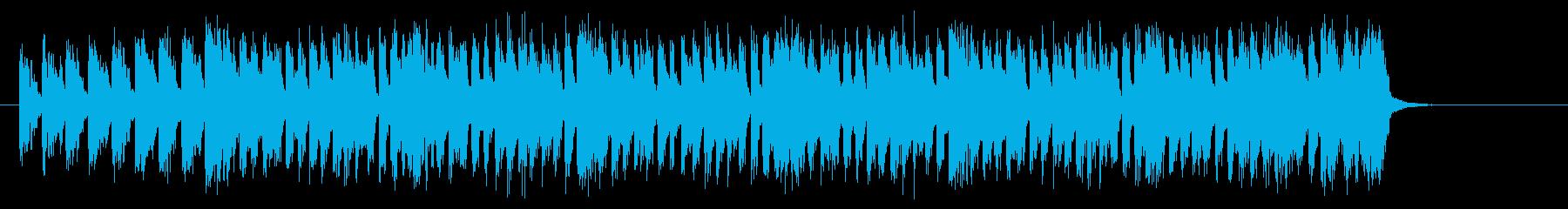 元気で楽しいアップテンポなシンセジングルの再生済みの波形