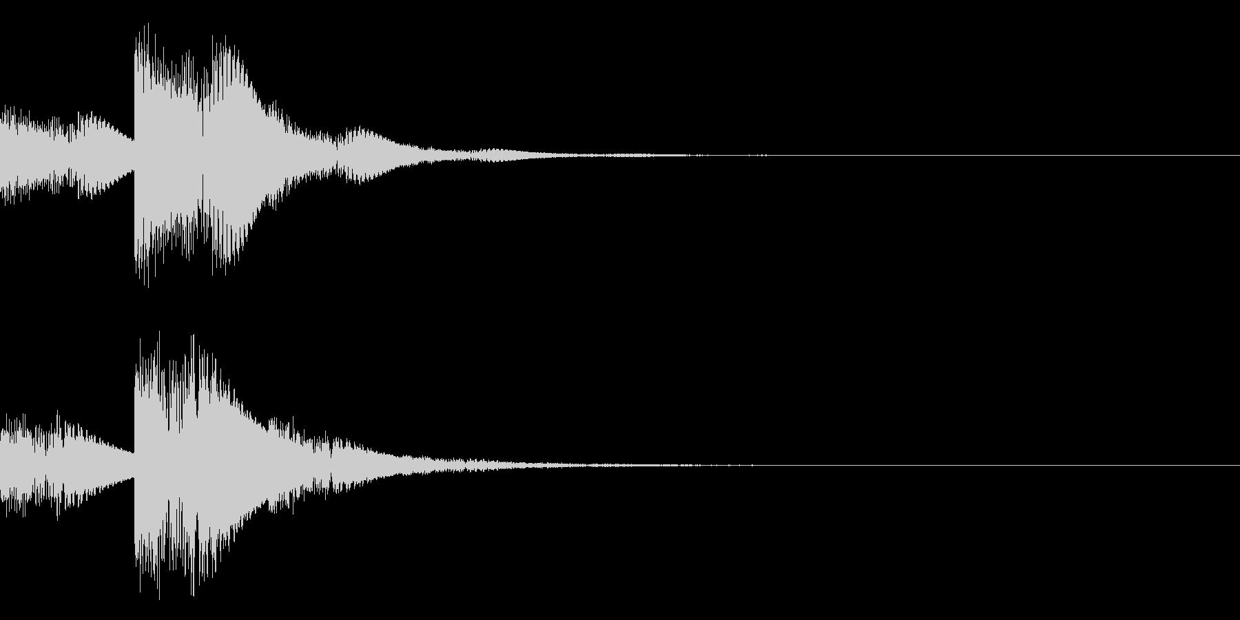 ジュ、ジュ、ジュワ・・・(電子系)の未再生の波形
