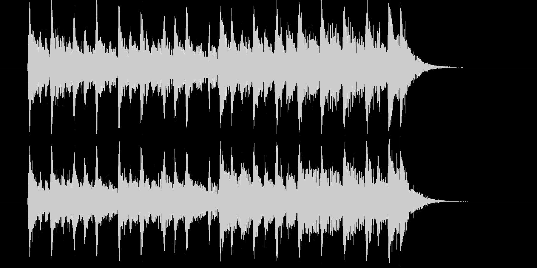 疾走感と楽しげな弦楽器サウンドの未再生の波形