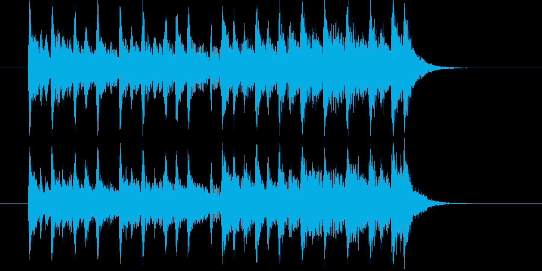 疾走感と楽しげな弦楽器サウンドの再生済みの波形