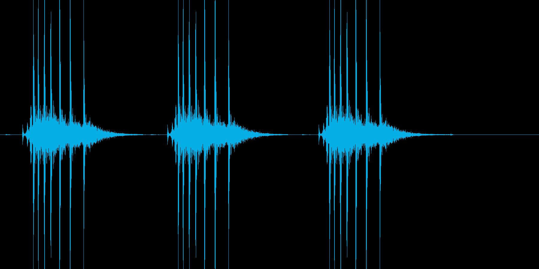 キリキリッ×3(ぜんまい、巻く、3回)の再生済みの波形