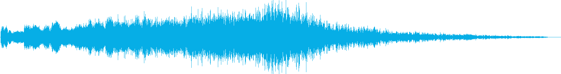 ホラー系SE(鐘・ストリングス)の再生済みの波形
