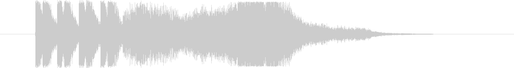 情報通信をイメージしたショートジングル!の未再生の波形