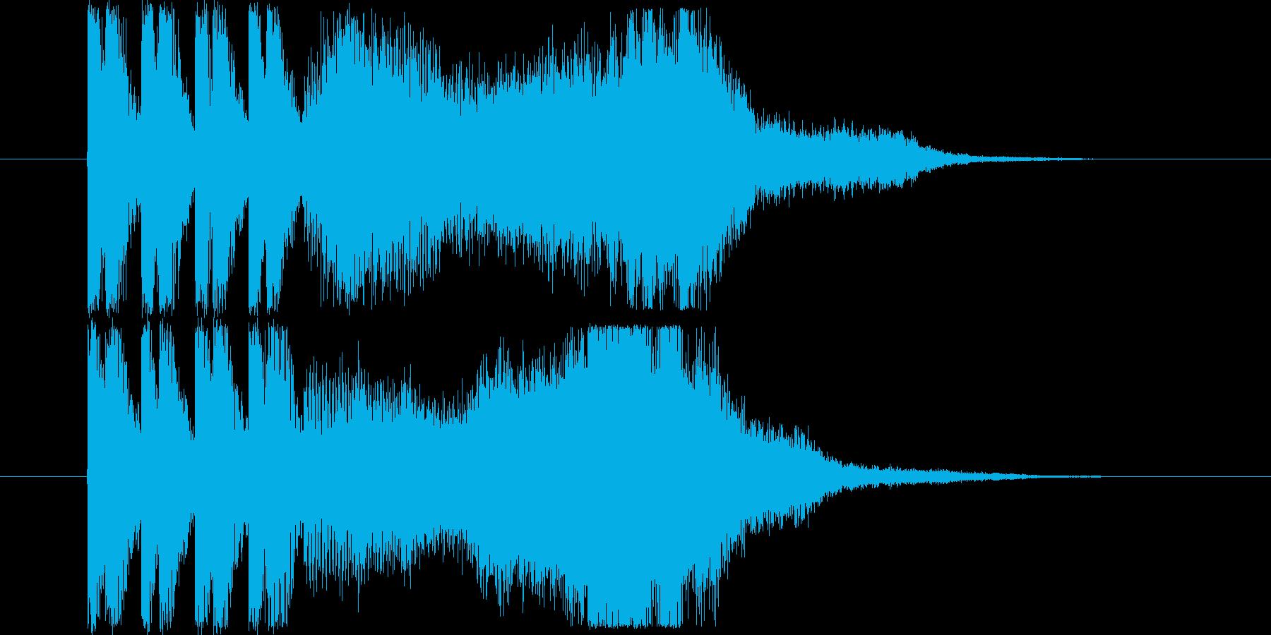 情報通信をイメージしたショートジングル!の再生済みの波形