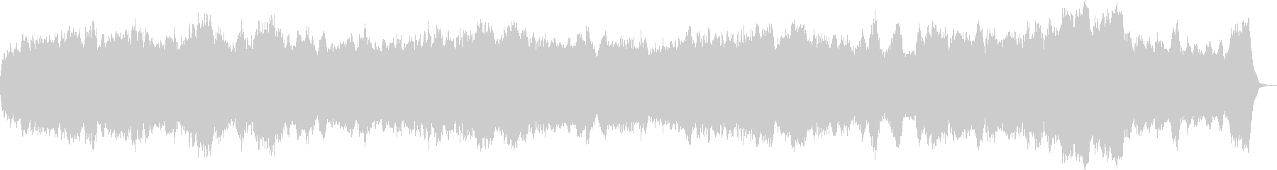 パイプオルガンのオリジナル讃美歌の未再生の波形