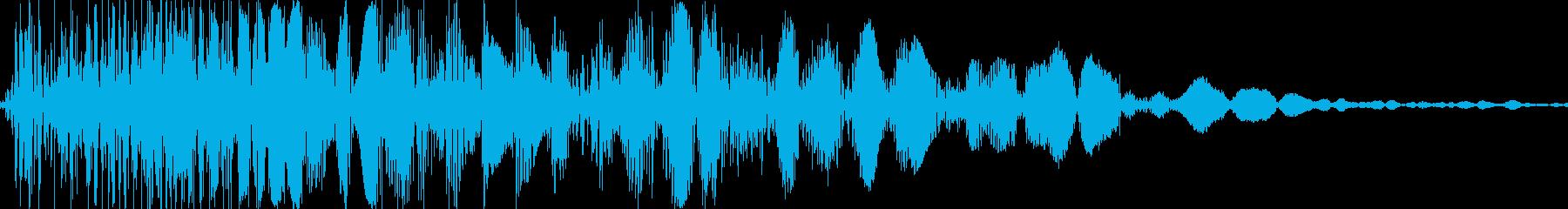 バシッ(殴ったようなツッコミ・打撃音)の再生済みの波形