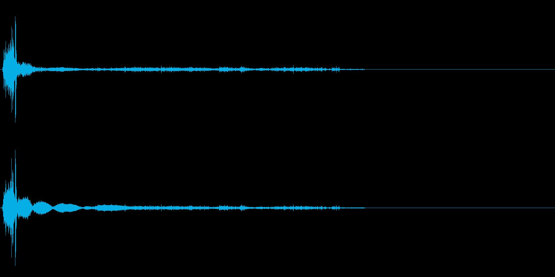 マッチの再生済みの波形
